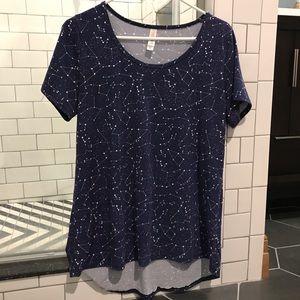 LuLaRoe constellation t-shirt size M